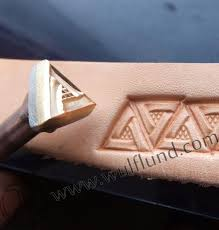 triangle leather stamp