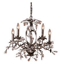 elk 8053 5 circeo 5 light 21 inch deep rust chandelier ceiling light photo