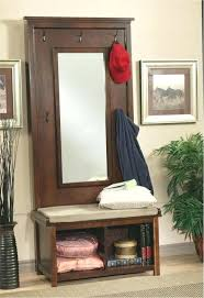 Coat Rack Bench With Mirror Cool Hall Trees With Storage Bench Mirror Contemporary Coat Racks