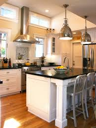 Transitional Kitchen Lighting Photos Hgtv Transitional Kitchen With Industrial Pendants Over