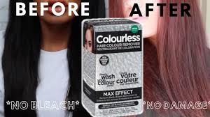 remove permanent black hair dye at home