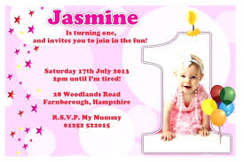 Birthday Invitation Card Templates Free Download Interesting Baby Girl Birthday Invitation Card Baby Girl Birthday Invitation