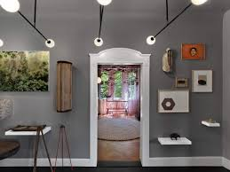 eclectic lighting. Gray Walls With White Molding, And A Selection Of Eclectic Art | NONAGON.style Lighting N