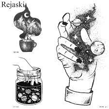 Kreativní Dočasné Tetování černou Malé Nálepka ženy Galaxie
