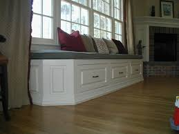 Window Seat Decorations Excellent Build In A Window Seat With Storage Under