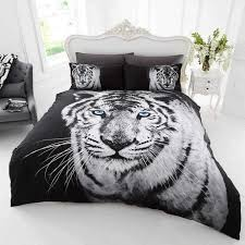 gc 3d white tiger duvet cover set