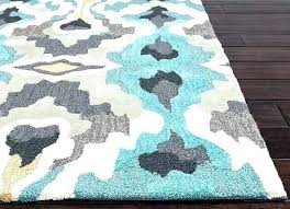 turquoise and gray area rug rugs ideal chevron furniture s