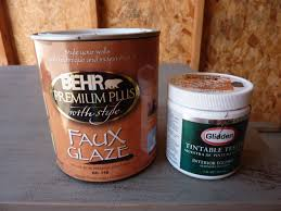 Behr's Faux Glaze and Glidden Test Paint (brown): Perfect for creating an  antique