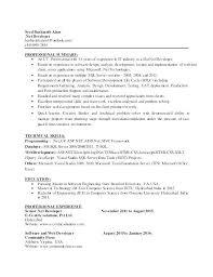 Net Developer Resume Asp Net Developer Resume Software Developer Impressive Net Developer Resume