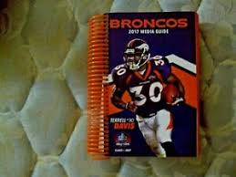 Details About 2017 Denver Broncos Media Guide Yearbook Terrell Davis Press Book Program Nfl Ad