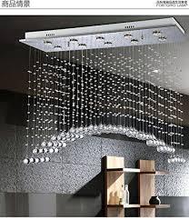 modern clear crystal chandelier 389 90 rectangular shape ten lights