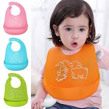 <b>Cartoon Prints Kids Silicon</b> Bib Adjustable Waterproof Bib Baby ...
