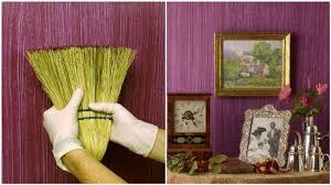 textured wall paintCreative DIY Textured Walls Using a Whisk Broom  Stylish Eve