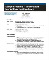 Technology Resume Template Custom 28 Information Technology Resume Templates PDF DOC Free