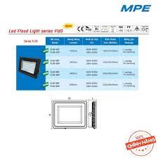 HÀNG CHÍNH HÃNG] Đèn LED MPE Flood Light series FLD2 10W/ 20W/ 30W/ 50W Ánh  sáng Trắng, Vàng – DIALUX Công Nghệ Đức - Bóng đèn