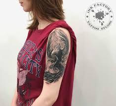 феникс на плече сделано в Inkfactory