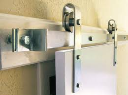 acorn square end rolling barn door hardware kit 8 ft stainless steel