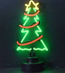 Neonetics Christmas Tree with Garland Neon Sculpture