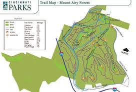 Mt Airy Forest Cincinnati Parks Forest Trail Forest Map