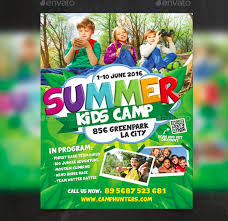 Summer Camp Flyer Template Adorable 44 Summer Camp Flyer Templates Free JPG PSD ESI InDesign
