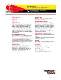welcome national gypsum understanding the ul fire resistant directory 101