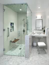 modern shower bench floor bathroom transitional with flip down contemporary vanities teak seat