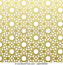 Arabic Pattern Arabic Pattern Gold Style Traditional Arab East Geometric Decorative Background