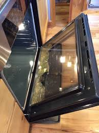 bosch oven door glass shattered during