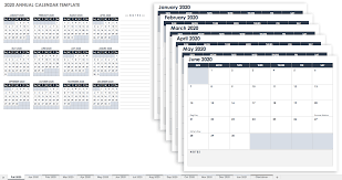 Month At A Glance Calendar Template Free Excel Calendar Templates