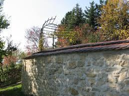Gartenmauer Alte Ziegel Schmiedeisen Pictures