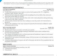 Maintenance Job Resume Fascinating Electrical Maintenance Resume Industrial Mechanic Resume Electrical
