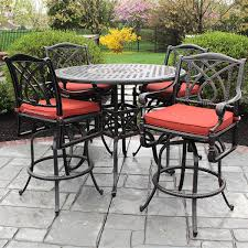 patio table and 6 chairs:  casual patio furniture grand terrace bar height