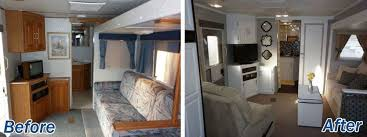Jayco Eagle 16 Year Old Jayco Travel Trailer Gets An Interior Decor Makeover Pinterest 16 Year Old Jayco Travel Trailer Gets Interior Decor Makeover