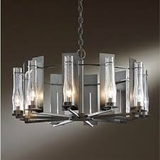 hubbardton forge new town dark smoke 10 light large chandelier with seeded clear glass