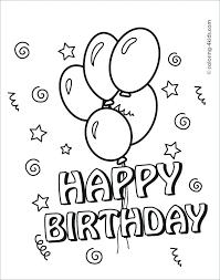 Online Printable Birthday Cards Printable Birthday Cards For Kids Print And Color Birthday