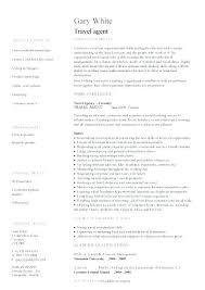 Travel Agent Resume Interesting Travel Agent Resume Sample Agency Manager Cv Example