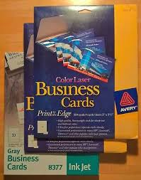 Avery 8377 Avery Color Laser Printer Business Cards 5881 13 39 Picclick