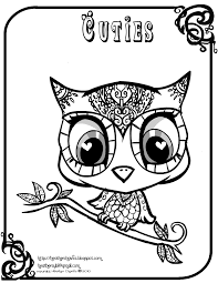 Small Picture Adult halloween owl coloring pages Cute Owl Coloring Pages Az