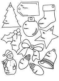 Christmas Gift Tag Coloring Page Free Christmas Labels Templates