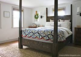 4 poster bed plans.  Bed Build Your Own Colonial Style Poster Bed Or Canopy With Free Plans From  Anawhitecom Intended 4 Poster Bed Plans E