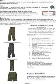 Boy Scout Switchback Pants Size Chart Troop Ia Hawkeye Area Council The Boy Scout Uniform Pdf