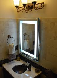 amazon wall mounted lighted vanity mirror led mam82432 mercial grade 24 wide x 32 tall home kitchen