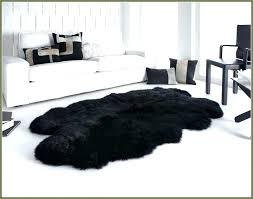 ikea white fake fur rug black faux rugs ideas large sheepskin