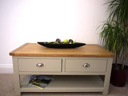 coffee tables two tone grey table painted oak drawer city