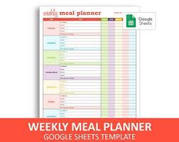Printable Diet Plan Etsy
