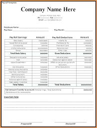 Sample Of Payroll Sheet In Excel Employee Payroll Register Template