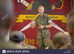U.S. Marine Corps Gunnery Sgt. Benjamin Dao, a chief drill ...