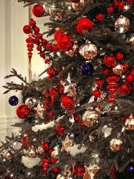 christmas trees decorated in red and gold. Fine And Traditional Red And Gold Christmas Decor Source For Trees Decorated In