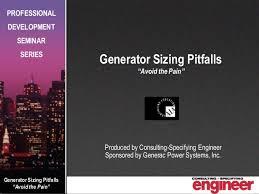 Generator Sizing Pitfalls