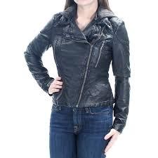 free people new black hooded motorcycle jacket 0 michael kors leather rock republic rcycle jacket faux leather hooded motorcycle womens